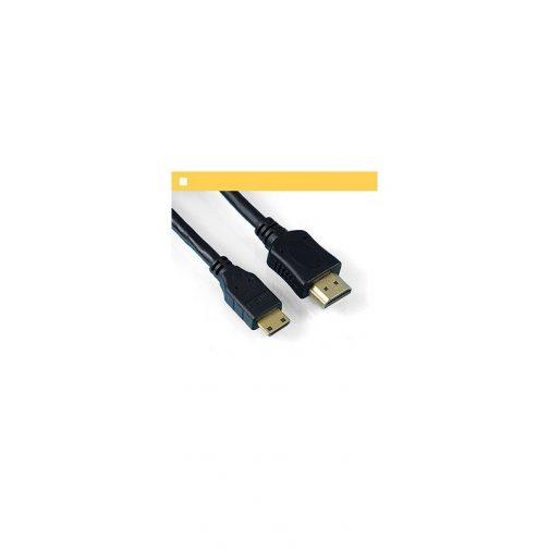 Cabo Mini-HDMI x HDMI 1,8m Ouro 24K - Feasso