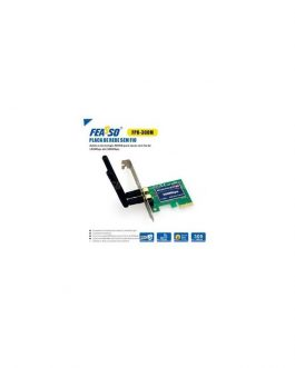 PLACA REDE PCI-EXPRESS FPR-300M REDE SEM FIO - C/ 2 ANTEN. + PERFIL BAIXO - WI-FI*